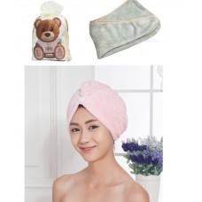 Πετσέτα – τουρμπάνι στεγνώματος μαλλιών πράσινο απαλό