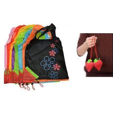 """Επαναχρησιμοποιούμενες οικολογικές τσάντες για ψώνια - πουγκί """"φράουλα"""" 34x34 εκ"""