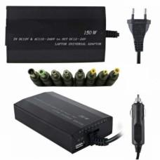 Universal φορτιστής-τροφοδοτικό 150 W για notebook και laptop ρεύματος και αυτοκινήτου