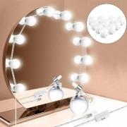 Αυτοκόλλητα φώτα καθρέφτη 10 τεμάχια LED