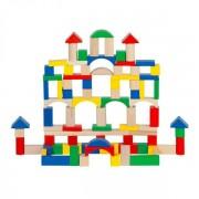 Ξύλινα γεωμετρικά στοιχεία κατασκευών 100 τεμάχια 8107
