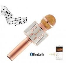 Ασύρματο bluetooth μικρόφωνο με ενσωματωμένο ηχείο και karaoke WS-858